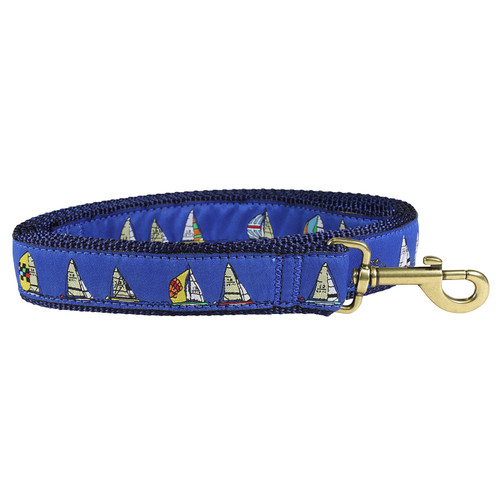 Rounding the Mark Dog Lead - Blue  - 1.25 Inch