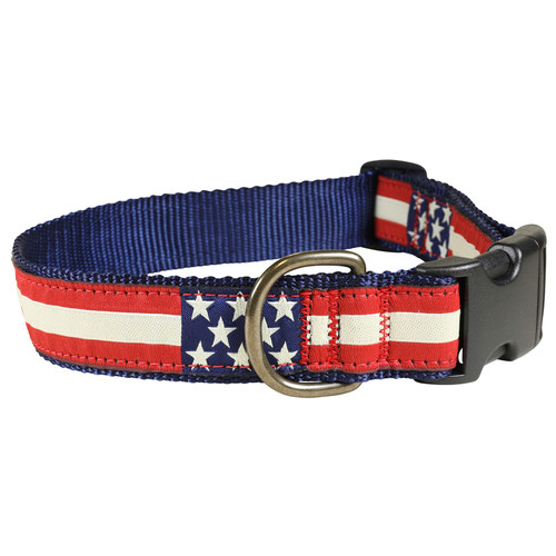 Retro Flag Dog Collar - 1.25 Inch