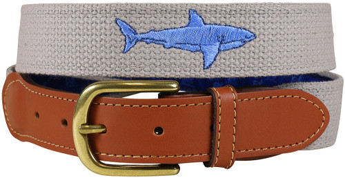 Bermuda Embroidered Belt - Shark Grey
