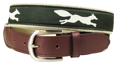 Hunter Green Feeling Foxy Leather Tab Belt