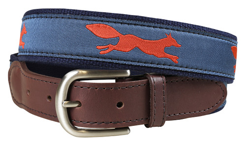 Feeling Foxy Leather Tab Belt | Steel Blue