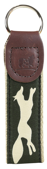 Feelin' Foxy Key Fob - Hunter Green