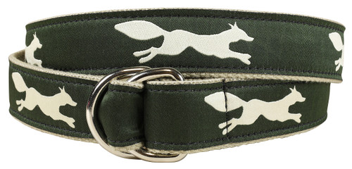 Feeling Foxy D-ring Belt - Hunter Green