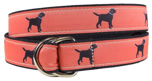 Labrador Retriever D-ring Belt - Nantucket & Navy