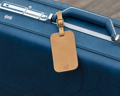 Down East Luggage Tag (Camel Nubuck)