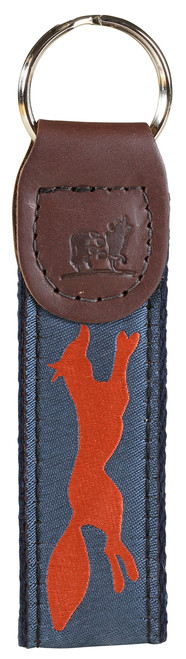 Feelin' Foxy Key Fob - Steel Blue