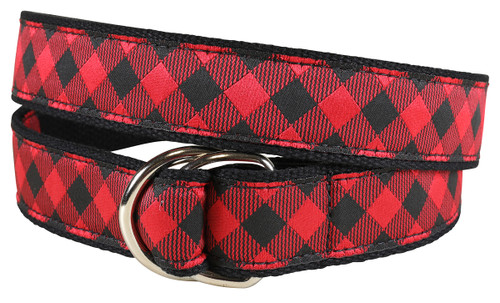 Buffalo Plaid D-Ring Belt