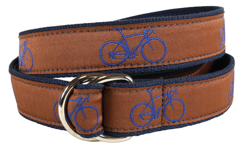 Road Bike D-ring Belt - Dark Brown