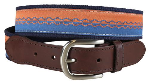 Retro Bike Chain Leather Tab Belt