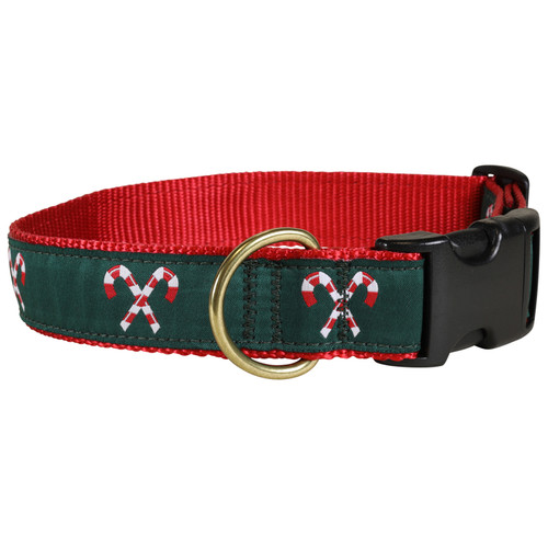 Candy Canes Dog Collar - 1.25 Inch