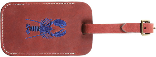Down East Luggage Tag (Lobster on Cherry Nubuck)