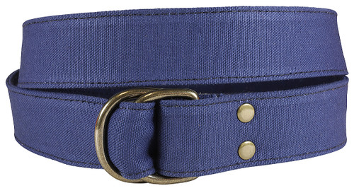 Canvas  D-ring Belt - Navy