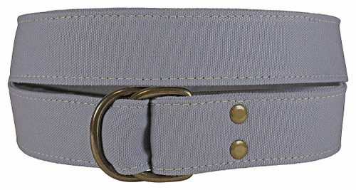 Canvas D-ring Belt - Smoke Grey