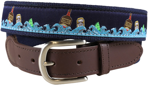 Dark & Stormy Leather Tab Belt