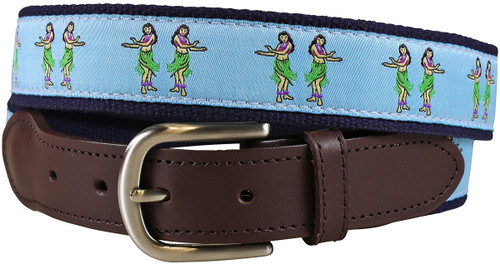 Hula Girls Leather Tab Belt