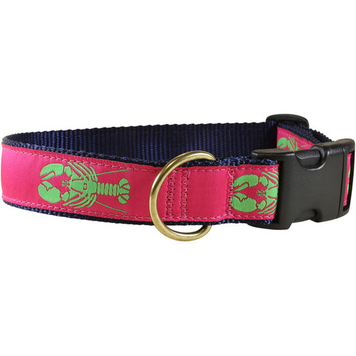 Lobster Dog Collar - Raspberry - 1.25 Inch