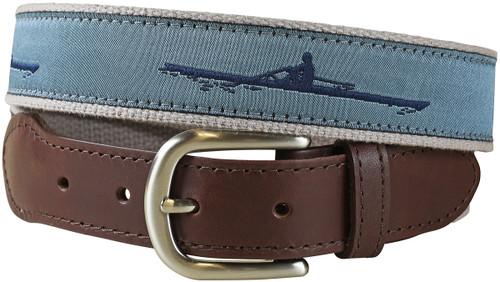 Rower Leather Tab Belt