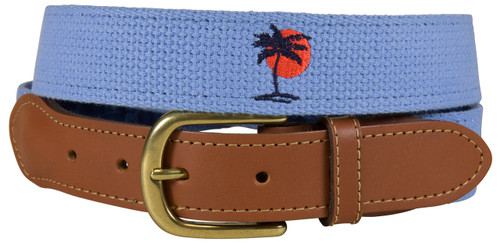 Bermuda Embroidered  Belt - Palm & Sun