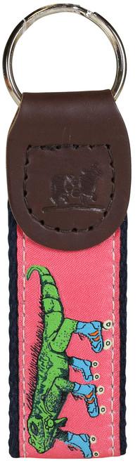 Iguana on Roller Skates Key Fob