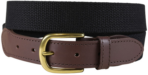 Cotton Webbing Belt | Black