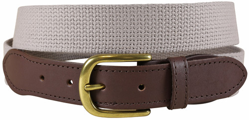 Cotton Webbing Belt | Grey