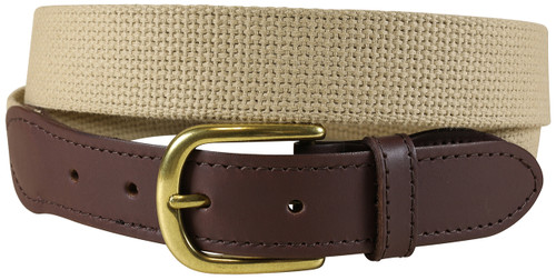 Cotton Webbing Belt | Buff
