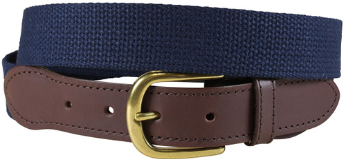Cotton Webbing Belt | Navy