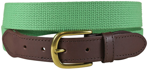 Cotton Webbing Belt - Grass Green