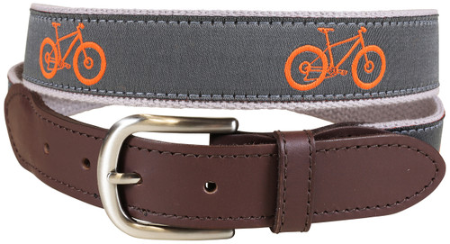 Fat Bike Leather Tab Belt