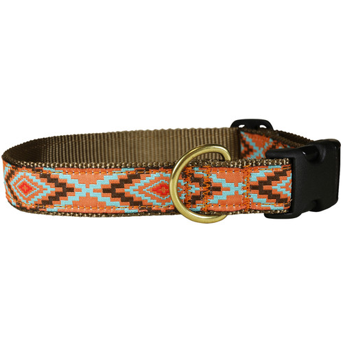 "Burnt Orange Southwest  1"" Dog Collar"