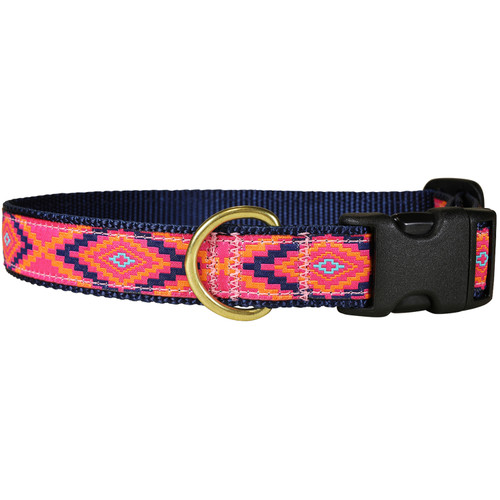 "Hot Pink Southwest 1"" Dog Collar"