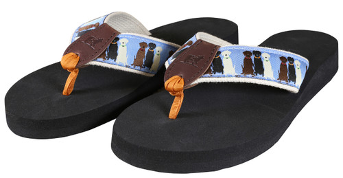Three Labs Flip Flops - Light Blue