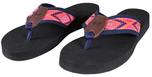 Southwest Flip Flops | Hot Pink