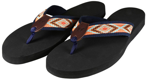 Southwest Flip Flops - Burnt Orange