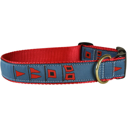 Hurricane Flags Dog Collar - 1.25 Inch