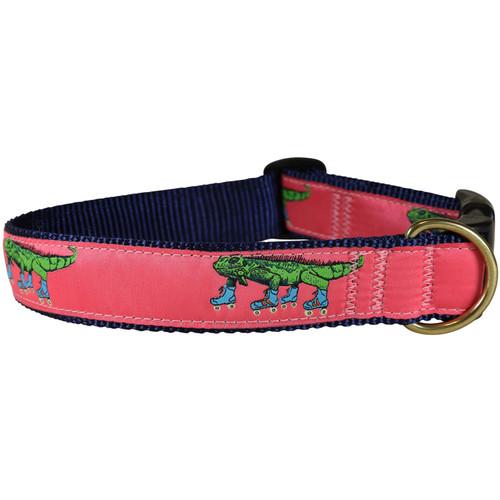 Iguana on Roller Skates Dog Collar - 1.25 Inch