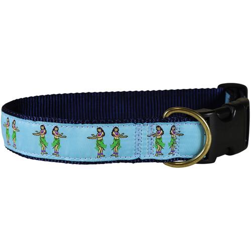 """Hula Girls  1.25"""" Dog Collar"""