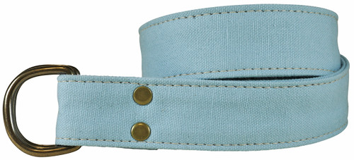 Canvas D-ring Belt - Vintage Blue