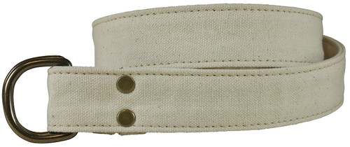 Canvas D-ring Belt - Natural