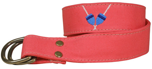 Canvas D-ring Belt - Embroidered Buoys