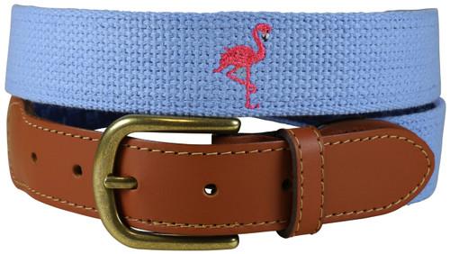 Bermuda Embroidered Belt - Flamingo