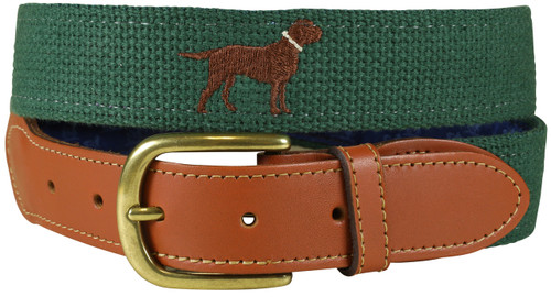 Bermuda Embroidered Belt - Dog