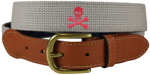 Bermuda Embroidered Belt | Skull & Bones