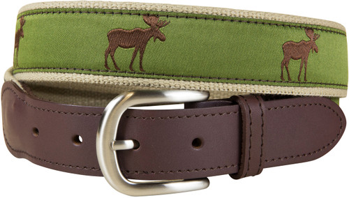 Moose Leather Tab Belt