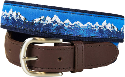 Mountain Range Leather Tab Belt