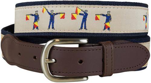 Ship to Ship BYOB Leather Tab Belt