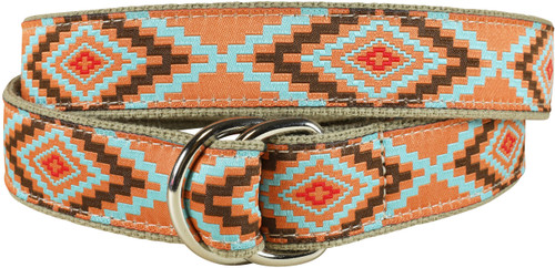 Southwest D-ring Belt -Burnt Orange