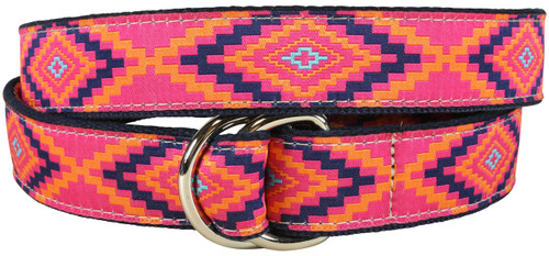 Southwest D-ring Belt | Pink