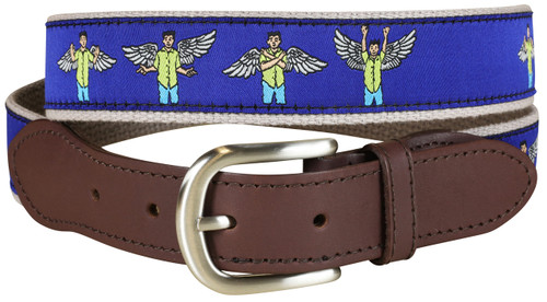 Wing Man Leather Tab Belt