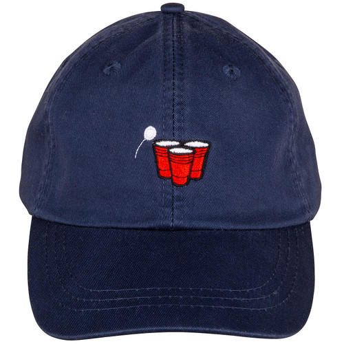 Beer Pong Hat on Navy